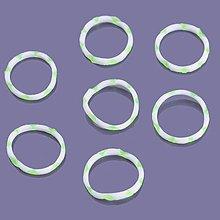 Iný materiál - G17929 gumičky LOOM BANDS svetlozeleno-biele, 100 ks - 4336982_