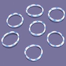 Iný materiál - G17930 gumičky LOOM BANDS modro-biele, 100 ks - 4337078_