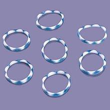 Iný materiál - G17935 gumičky LOOM BANDS petrolejovo-biele, 100 ks - 4337090_