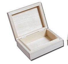 Polotovary - Krabička na karty 1 priečinok - 4333874_