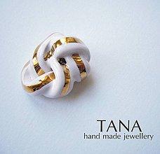 Odznaky/Brošne - Tana šperky - keramika/zlato - 4338134_