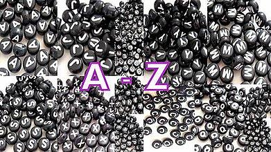 Korálky - Písmenká na výber A-Z (100ks) - 4338394_