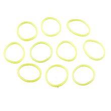 Iný materiál - G18059 gumičky LOOM BANDS svietiace v tme - žlté, 100 ks - 4337190_