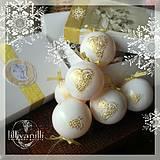 Dekorácie - Vianočné bielo - zlaté - 4338732_