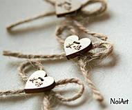 Svadba - Svadobné pierka s monogramom - 4341675_