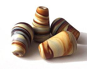 Korálky - Vinutka Wooden toffee droplet - 4341192_