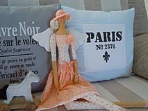 Bábiky - Marhuľová v klobúčiku - 4345765_