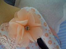 Bábiky - Marhuľová v klobúčiku - 4345772_
