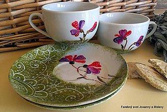 Nádoby - porcelánové šálky V machu - 4343244_