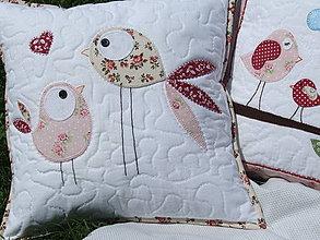Úžitkový textil - vankúš Vtáčiky - 4345328_