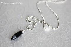 Náhrdelníky - náhrdelník s černým achátem elfky Tassarion - 4345813_