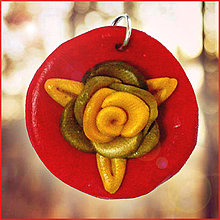 Náhrdelníky - Kvitnúce zlato (prívesok) - 4345407_