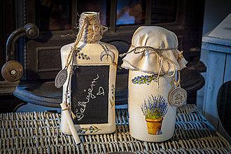 Nádoby - Dóza a váza levandulové - 4346549_