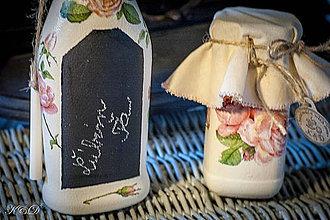 Nádoby - Dóza a váza ružičkové - 4347334_