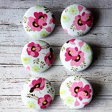 Materiál ručne robený - Buttony Ružové sirôtky 38 mm - 4346030_