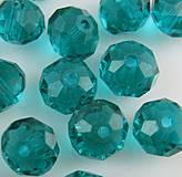Brúsené sklenené korálky 6x8mm