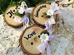 Darčeky pre svadobčanov - Gombík pre šťastie {Nature} - 4346046_