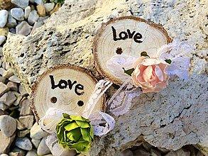 Darčeky pre svadobčanov - Gombík pre šťastie {White} - 4346062_