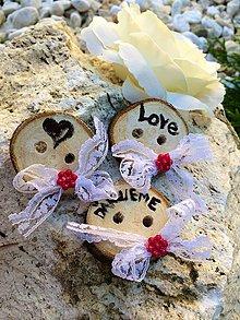 Darčeky pre svadobčanov - Gombík pre šťastie - 4346083_