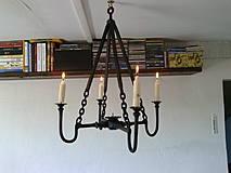 Svietidlá a sviečky - Kovaný svietnik - 4348683_