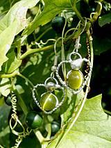 Srdiečka olivové-náušnice