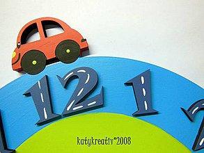 Hodiny - autíčkové hodiny 35cm - 4350232_