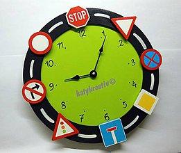 Hodiny - hodiny s dopravnými značkami - 4350253_