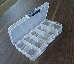 Obalový materiál - Plastový organizér 13,2 x 7,2 x 2,3 cm - 4350181_