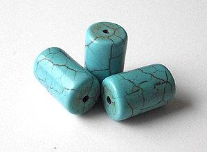 Minerály - Tyrkenit modrý 10 x 16 mm - 4353136_