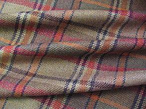 Textil - Vlnené káro - 4352867_
