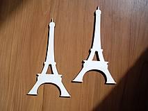 Materiál ručne robený - Dekorácia z dreva - Eiffelovka - 4355423_