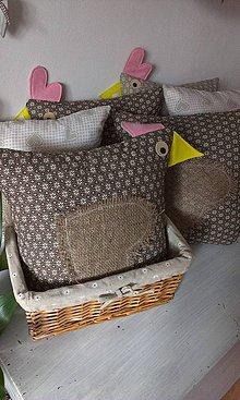 Úžitkový textil - sliepočkový  vankúšik - 4355730_