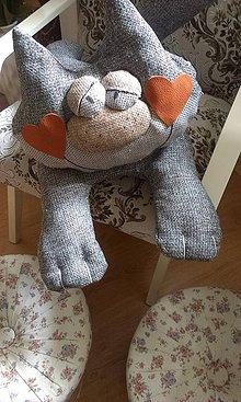 Úžitkový textil - mačička-vankúšik-hračka - 4356079_