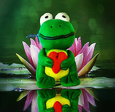 Drobnosti - Malá zamilovaná žabka :-) - 4356455_