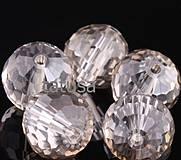 Korálky - Korálky - sklenené brúsené disco ball 6mm silver - shade - 4359382_