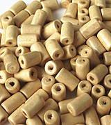 Maslovožlté drevené valčeky 10x6mm