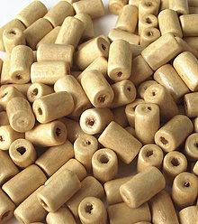 Korálky - Maslovožlté drevené valčeky 10x6mm - 4361151_