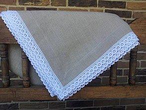 Úžitkový textil - Ľanový obrus Traditional - 4359488_