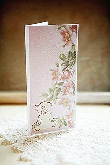 Papiernictvo - Otváracia pohľadnica - k narodeniu dievčatka #1 - 4362840_