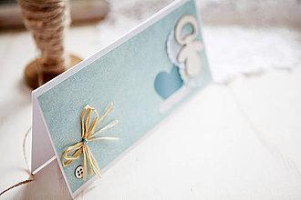 Papiernictvo - Otváracia pohľadnica - k narodeniu chlapčeka #1 - 4362868_