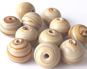 Korálky - Vinutka Wooden grain maxsfera - 4361398_