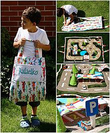 Textil - Cesta cestička - hracia deka zbalená do tašky - 4361498_