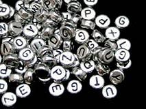 Strieborné korálky abeceda (balíček 500ks)