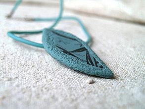 Náhrdelníky - lístok agave - 4365801_