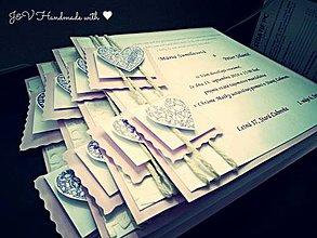Papiernictvo - Svadobné oznámenie s menovkou - (farebný text) - 4367462_