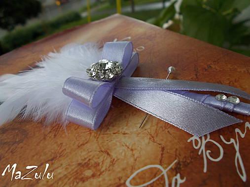 svadobné pierko biela & lila