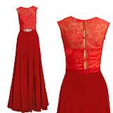 Šaty - Spoločenské šaty s krajkovým vrškom a šifónovou sukňou rôzne farby - 4368076_