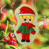 - Magnetky Vianočná idylka - chlapec - 4369260_