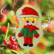 Dekorácie - Magnetky Vianočná idylka (chlapec) - 4369260_