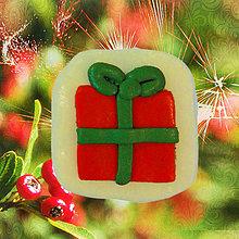 Dekorácie - Magnetky Vianočná idylka (vianočný darček) - 4369277_